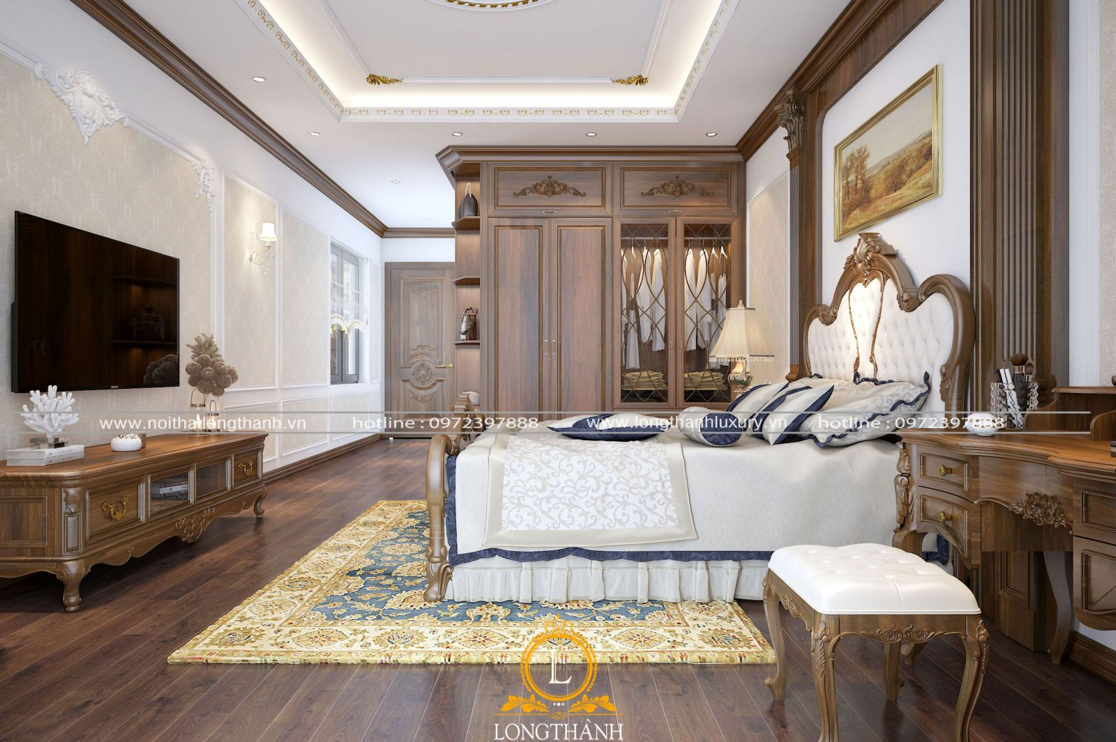 Phòng ngủ tân cổ điển đẳng cấp