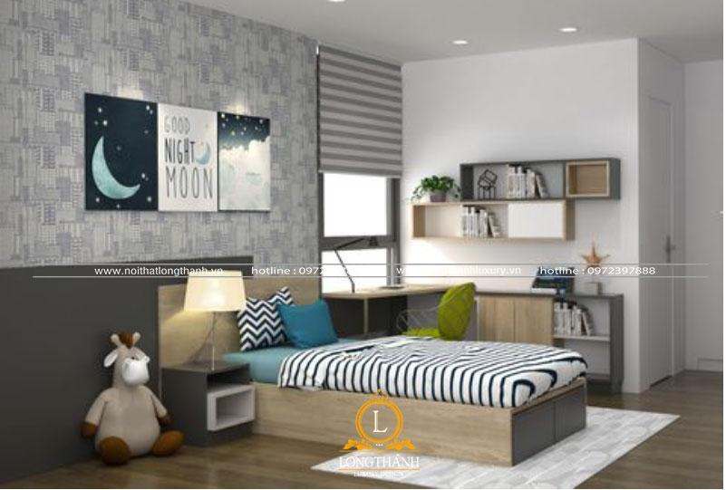 Phòng ngủ thiết kế tiện nghi cho con trai
