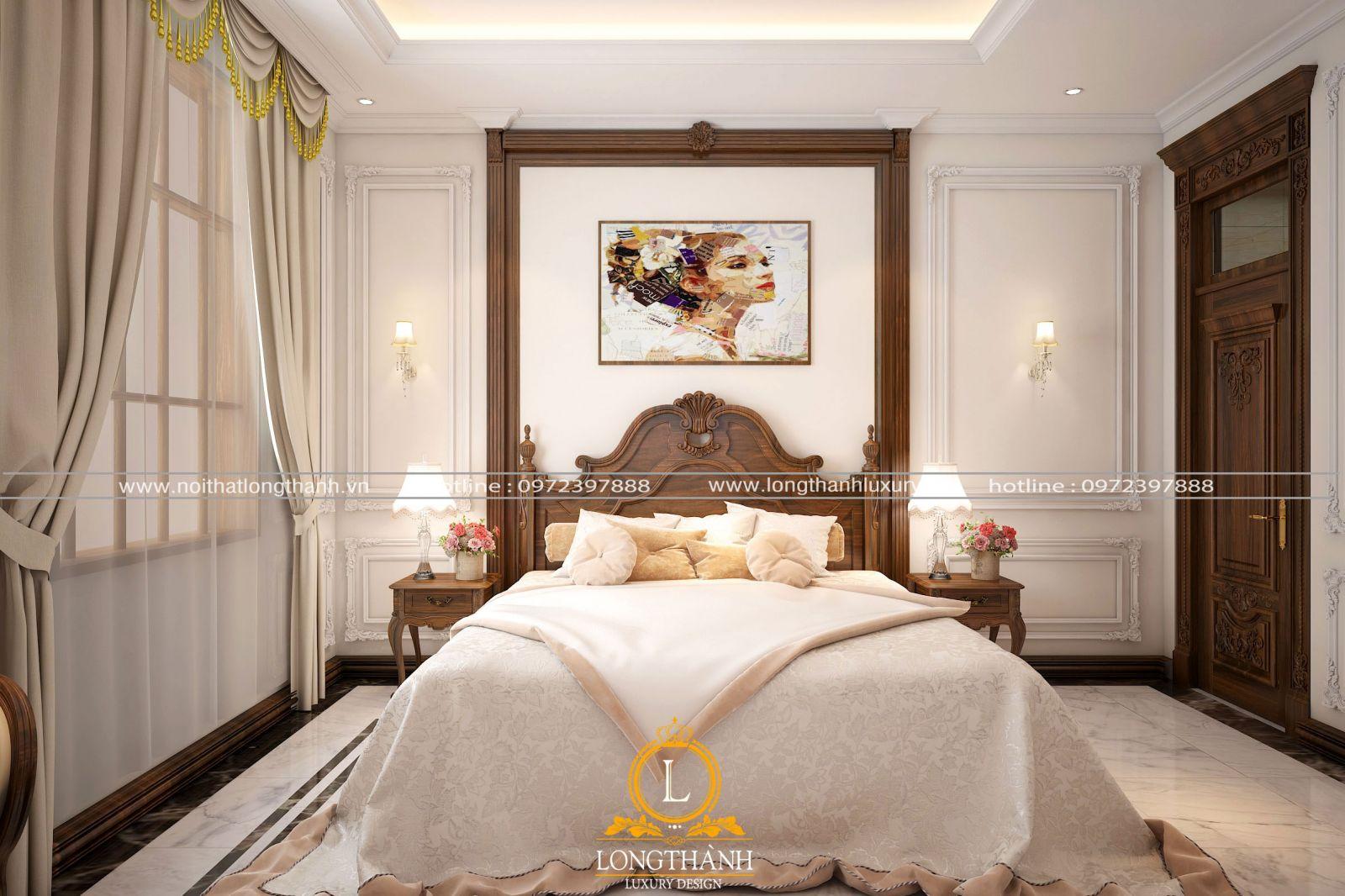 Phòng ngủ với nét đẹp độc đáo được thiết kế nhẹ nhàng cho các quý cô
