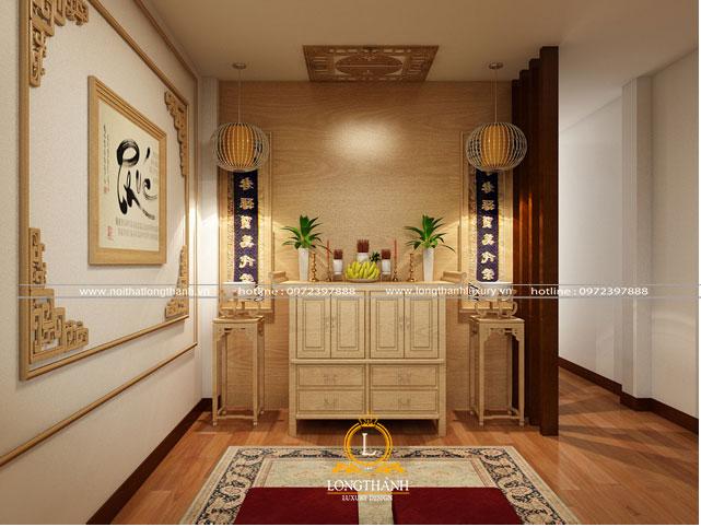Mẫu phòng thờ đơn giản mà đẹp cho không gian nhà chung cư