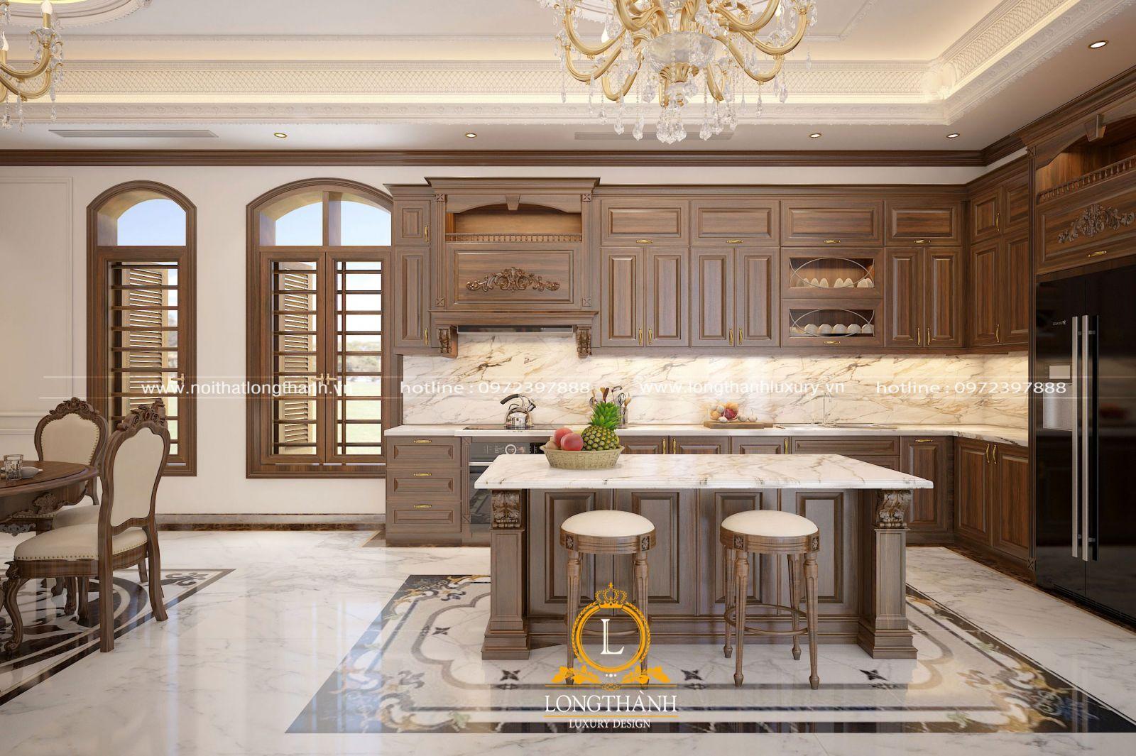 Quầy bar trong nội thất nhà bếp