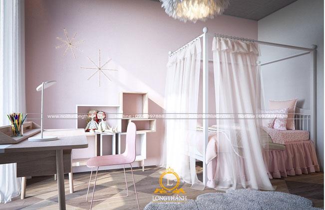 Rèm cửa giúp hệ ánh sáng phòng ngủ linh hoạt