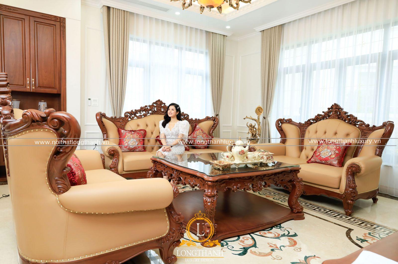 Sản phẩm sofa tân cổ điển cao cấp được sử dụng công nghệ sơn Inchem
