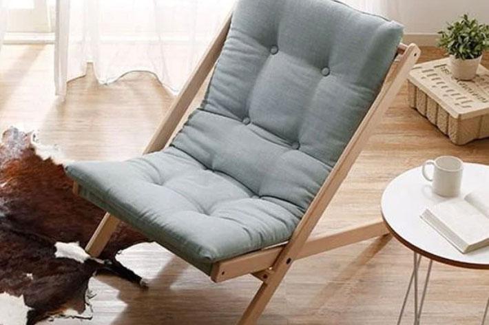 Sofa lười chân cao bố trí linh hoạt