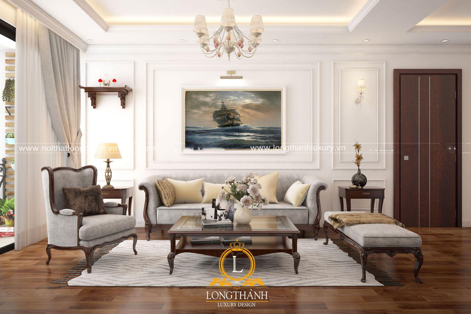 bộ sofa nỉ đẹp với thiết kế đơn giản ấn tượng