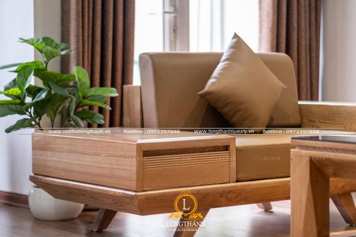 Sofa phòng khách với thiết kế đơn giản trẻ trung