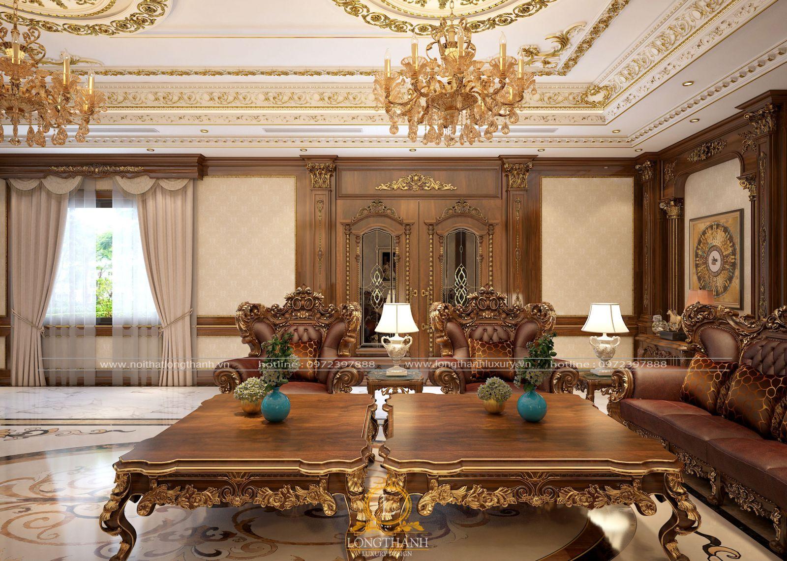Bộ ghế sofa tân cổ điển đem đến không gian sự đẳng cấp và quý tộc