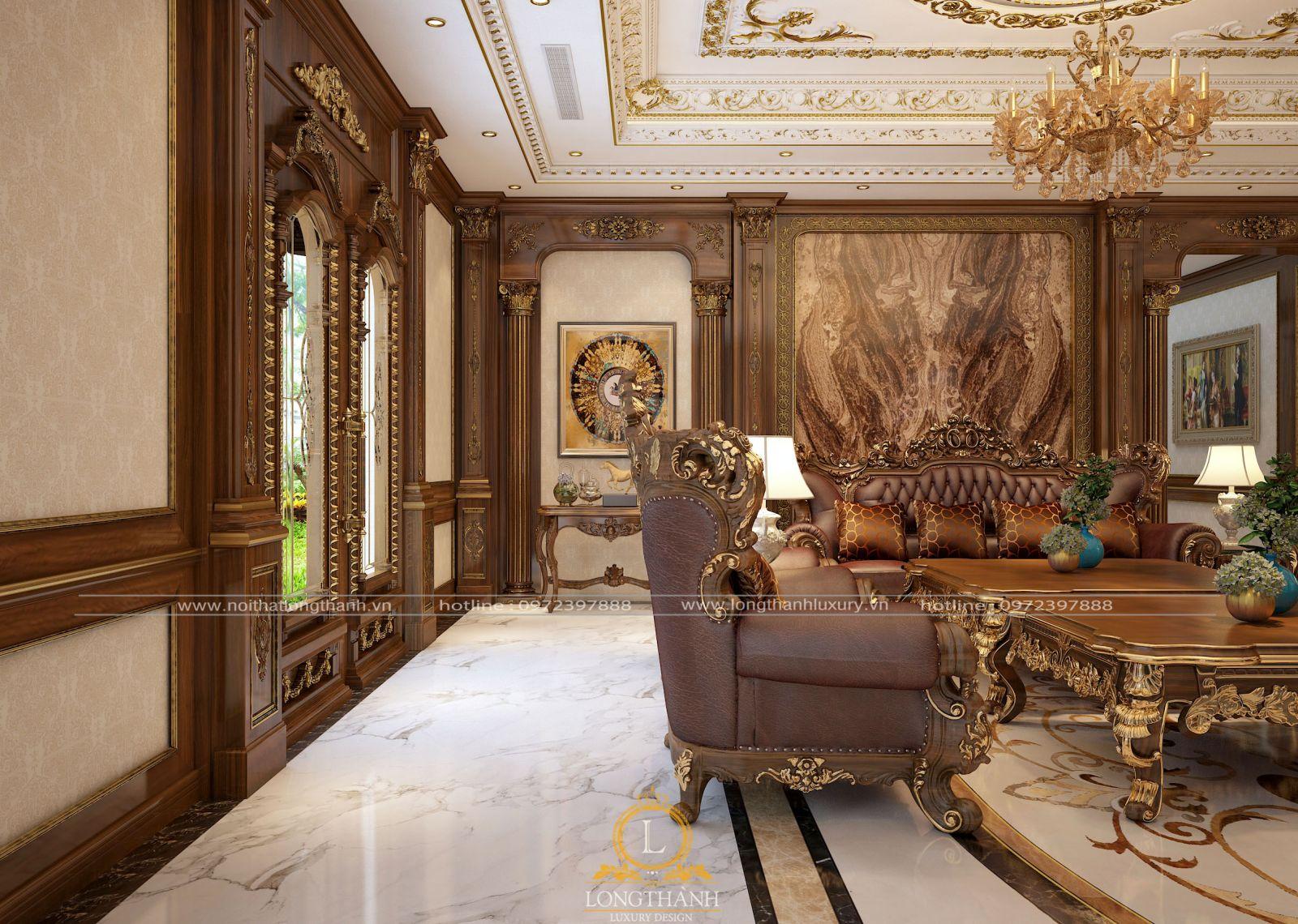 Những mấu ghế sofa tân cổ điển của Long Thành chau chuốt, tỉ mỉ từng chi tiết