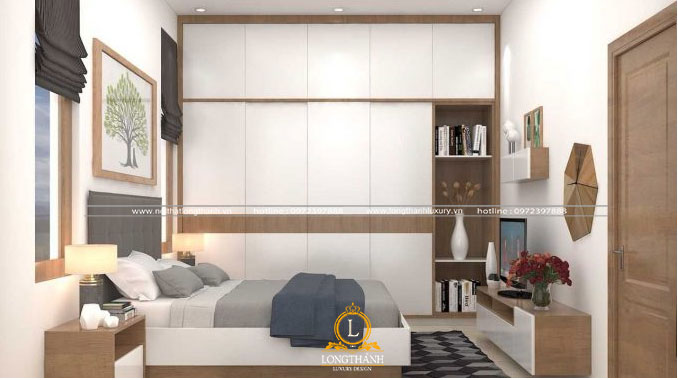 Sự đơn giản nhẹ nhàng của căn phòng ngủ hẹp