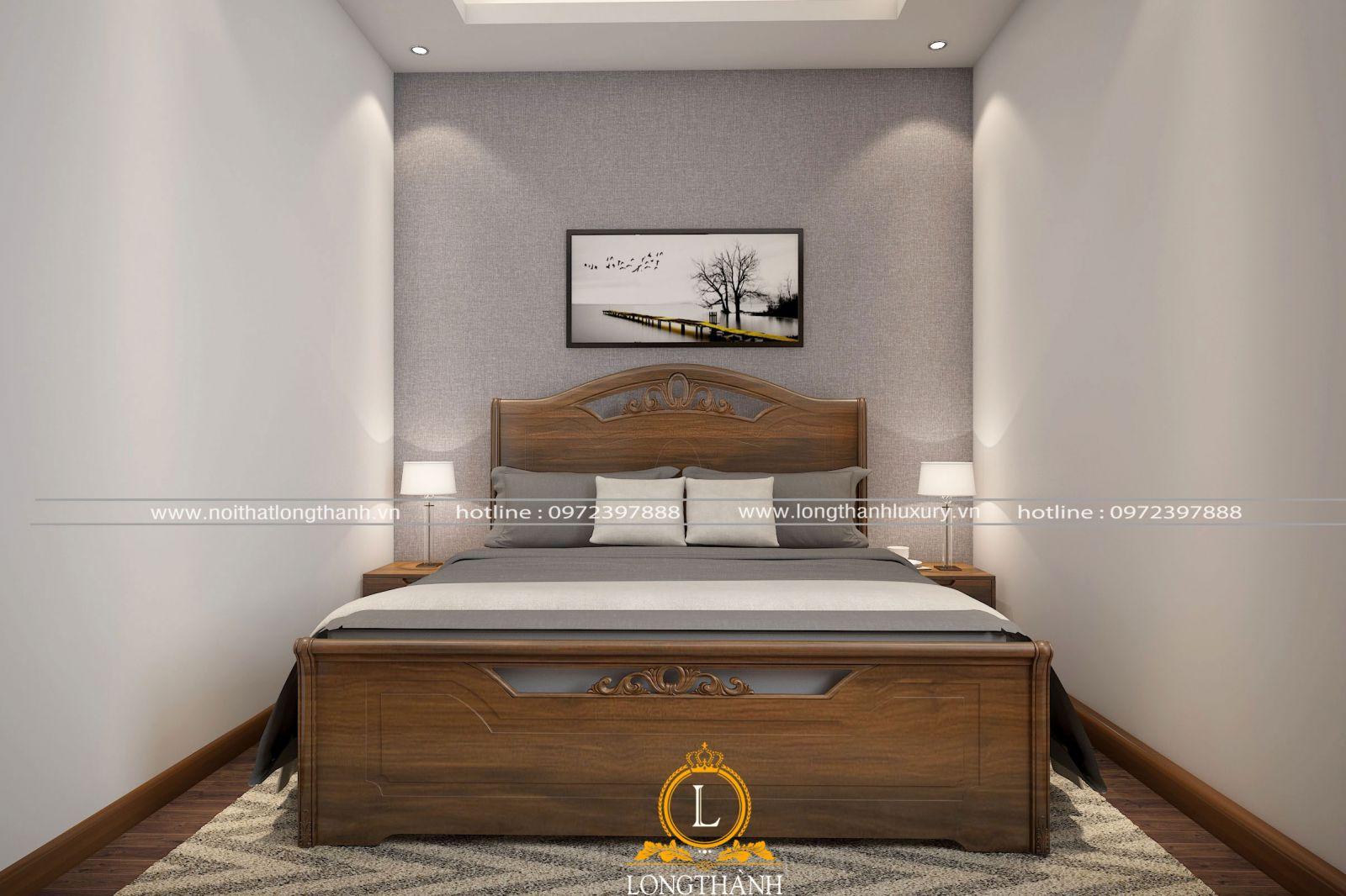 Thiết kế đơn giản phù hợp với phòng ngủ có diên tích nhỏ