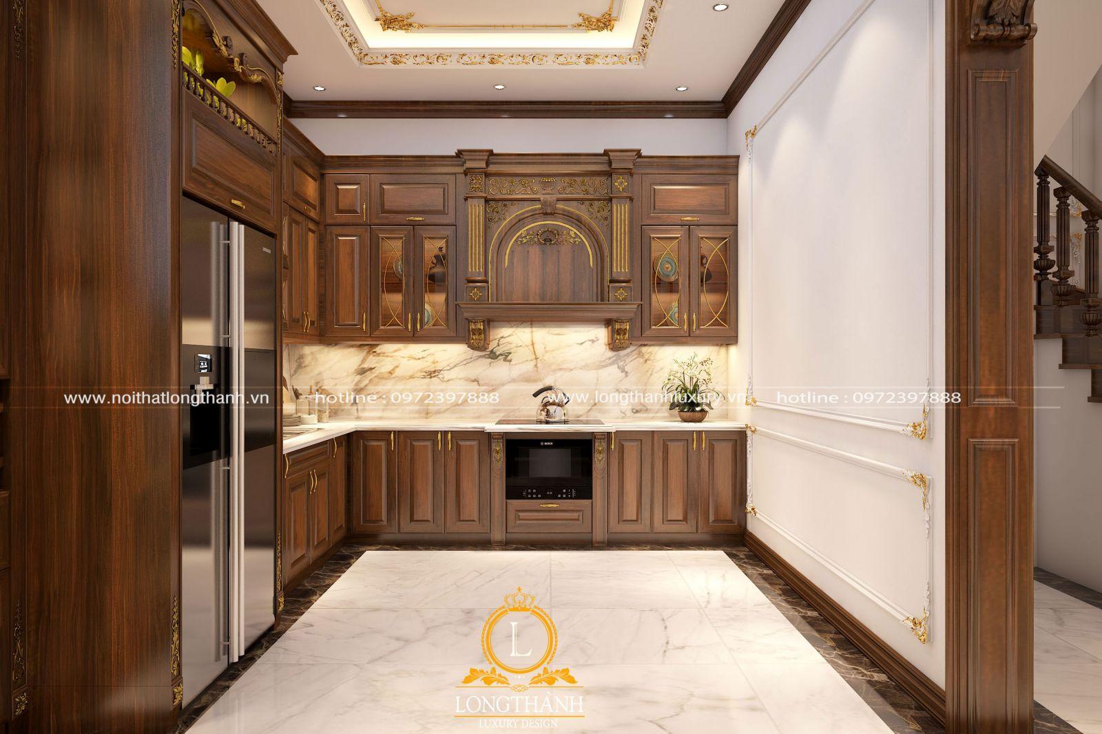 Tủ bếp đẹp cho ngôi nhà sang