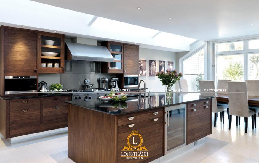Tủ bếp đẹp được thiết kế độc đáo