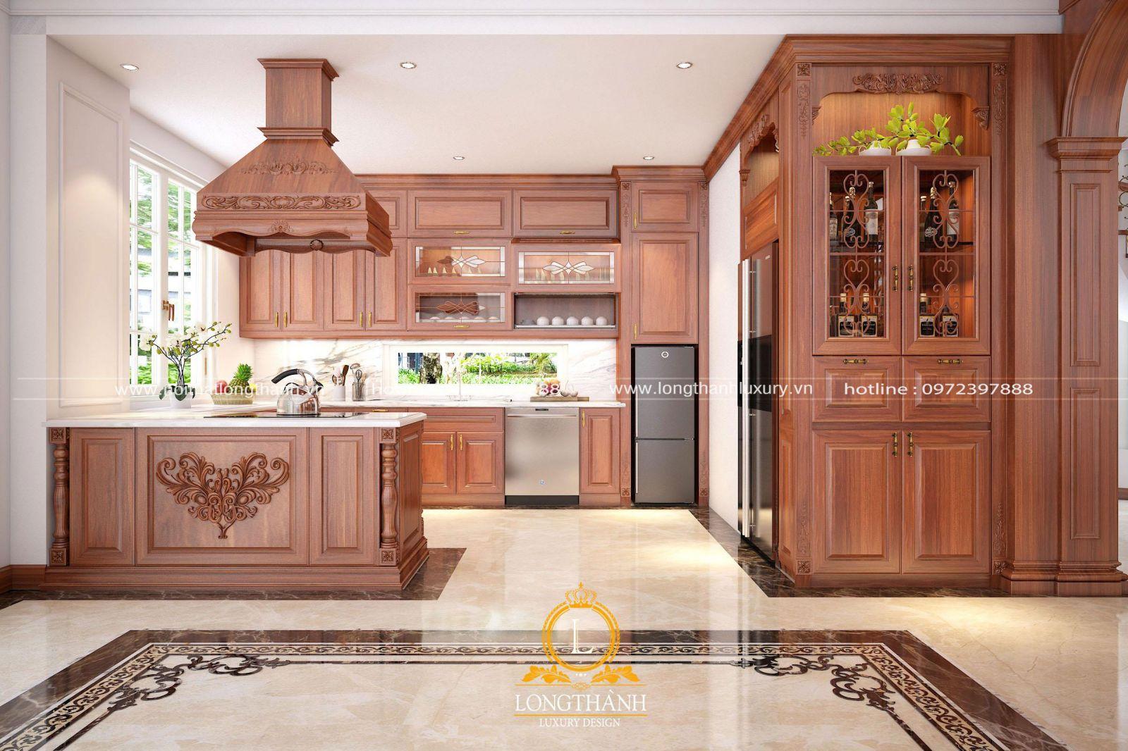 Tủ bếp đẹp được thiết kê độc đáo