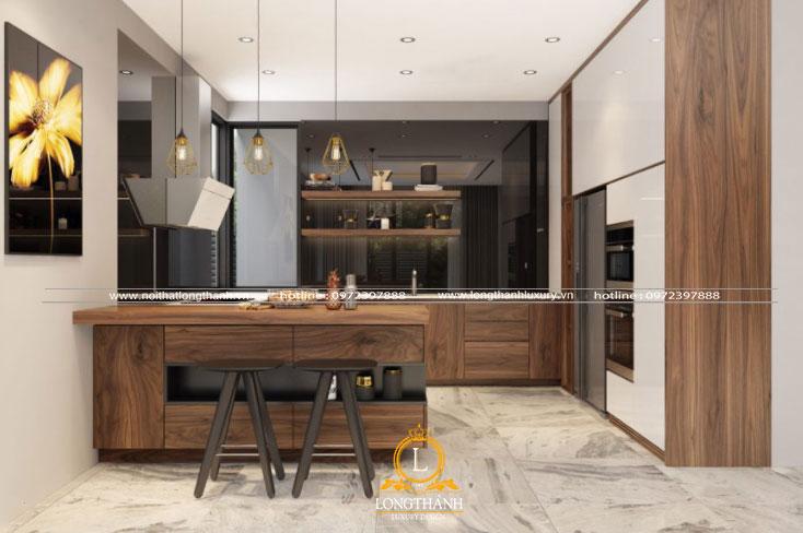 Tủ bếp đẹp nhỏ nhắn phù hợp cùng không gian