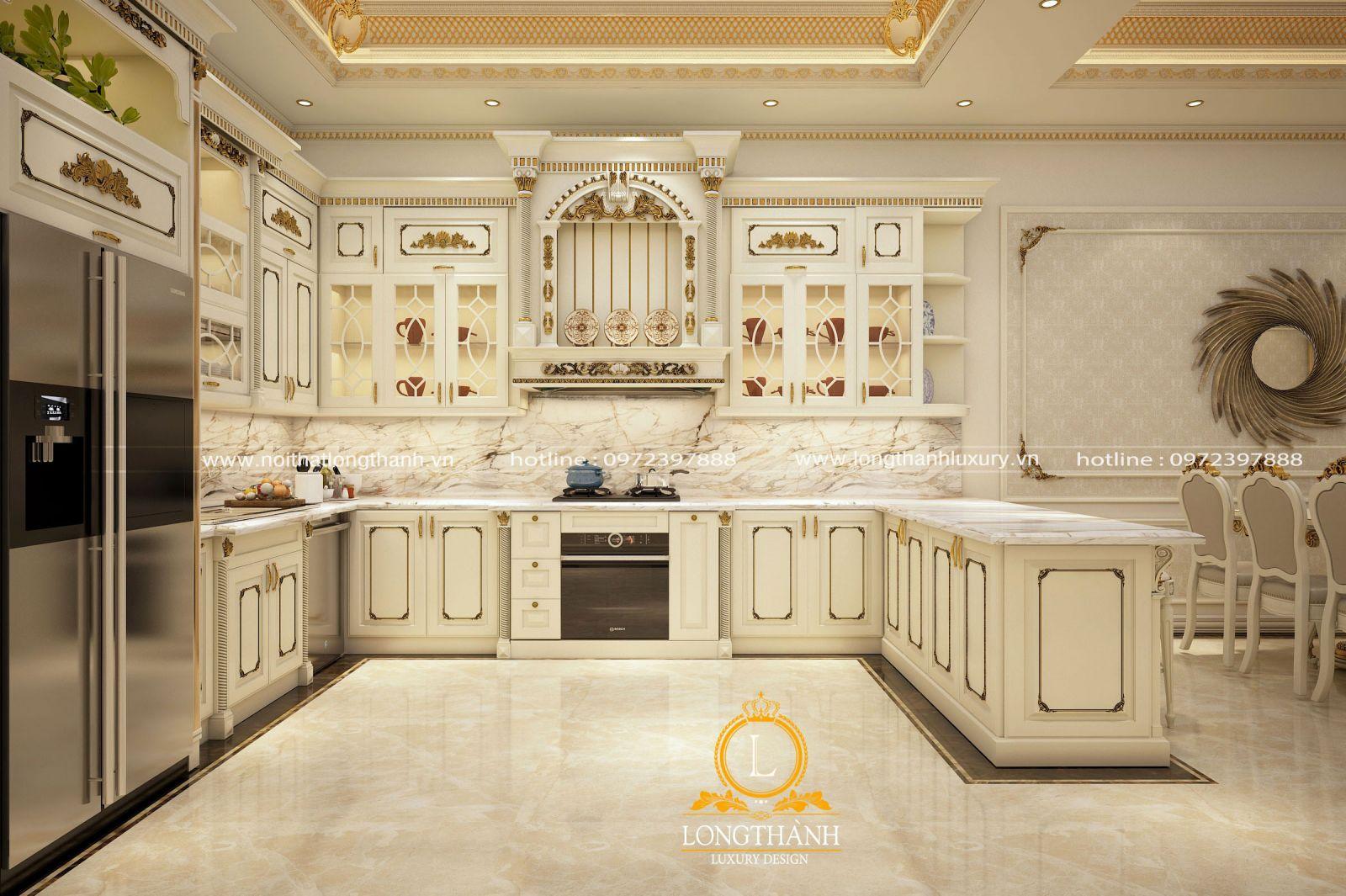 Tủ bếp đẹp phù hợp không gian