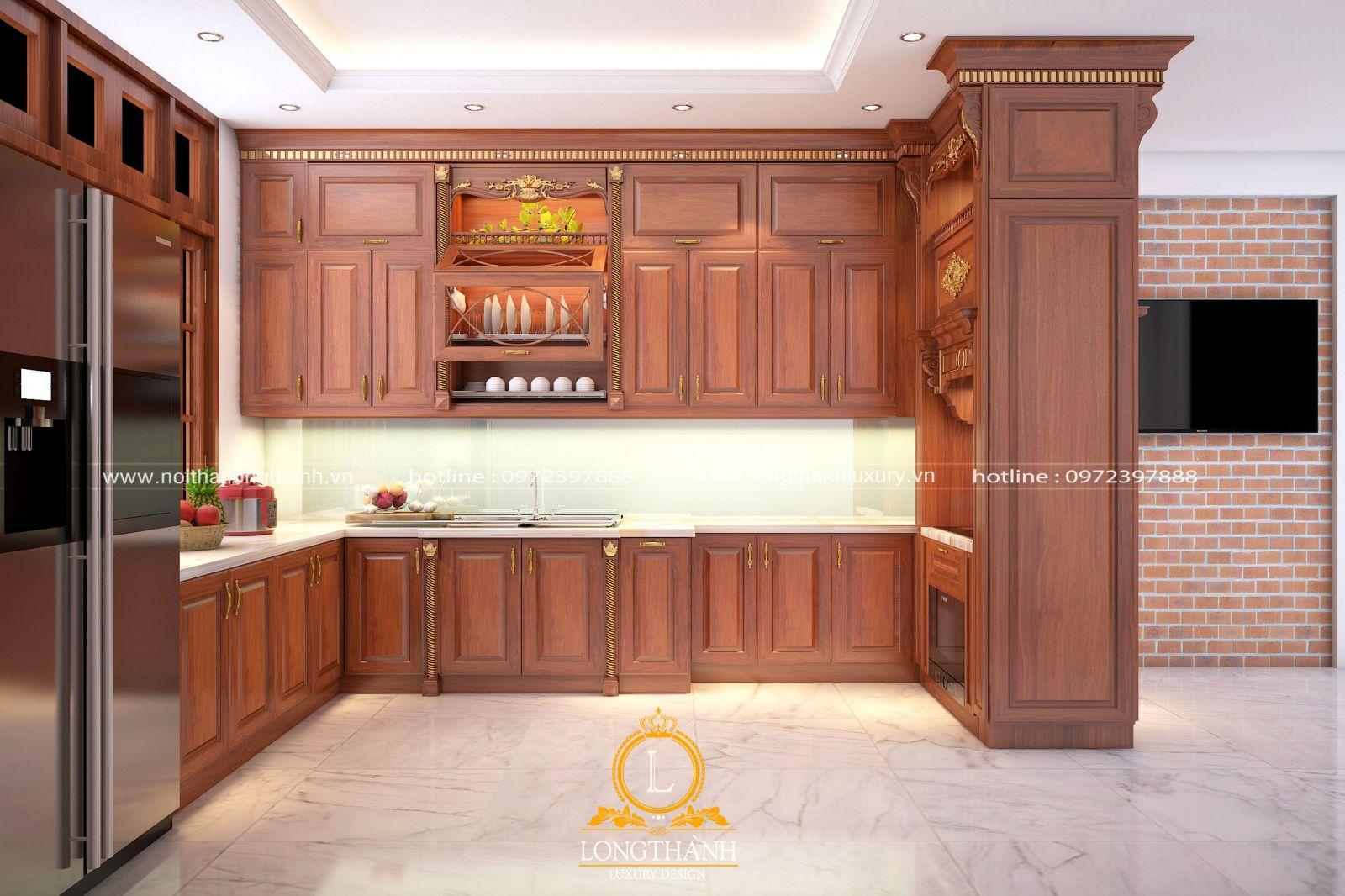 Tủ bếp đẹp thiết kế đơn giản