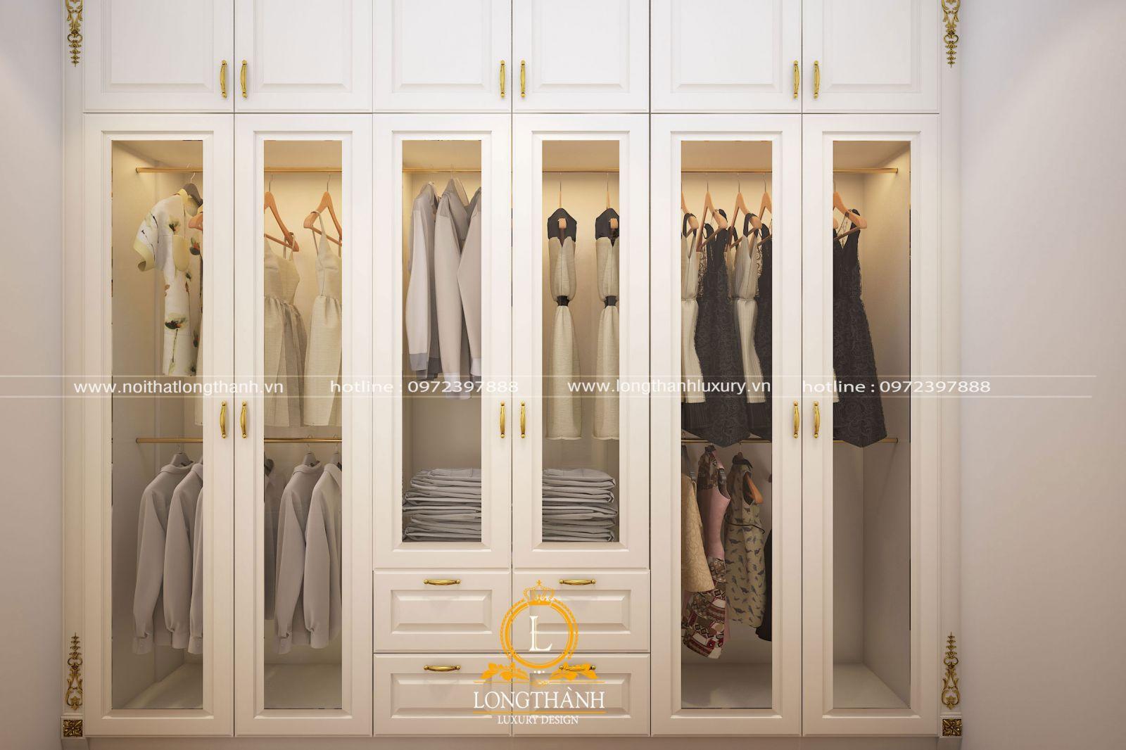 Tủ quần áođược thiết kếbảo đảm tính tiện nghi vàvô cùng sang trọng