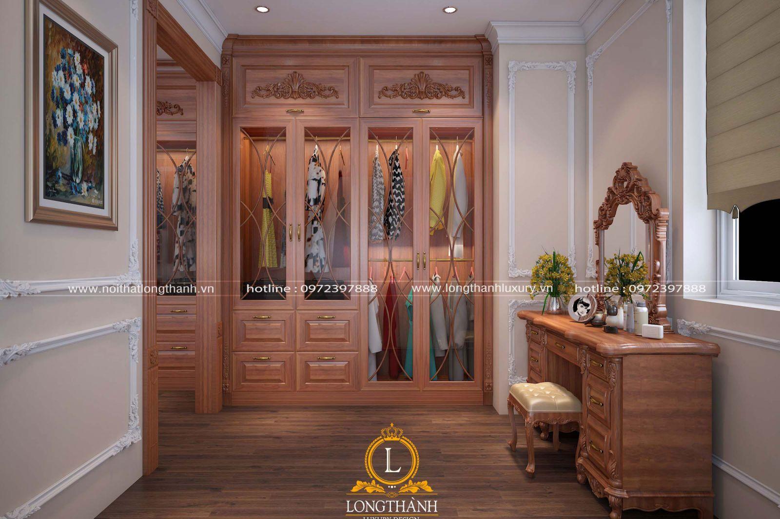 Tủ quần áo đẹp vừa với diện tích