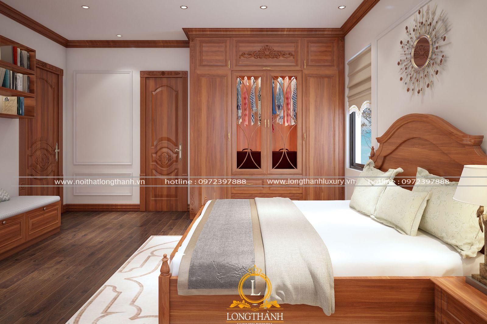 Tủ quần áo gỗ Gõ đẹp
