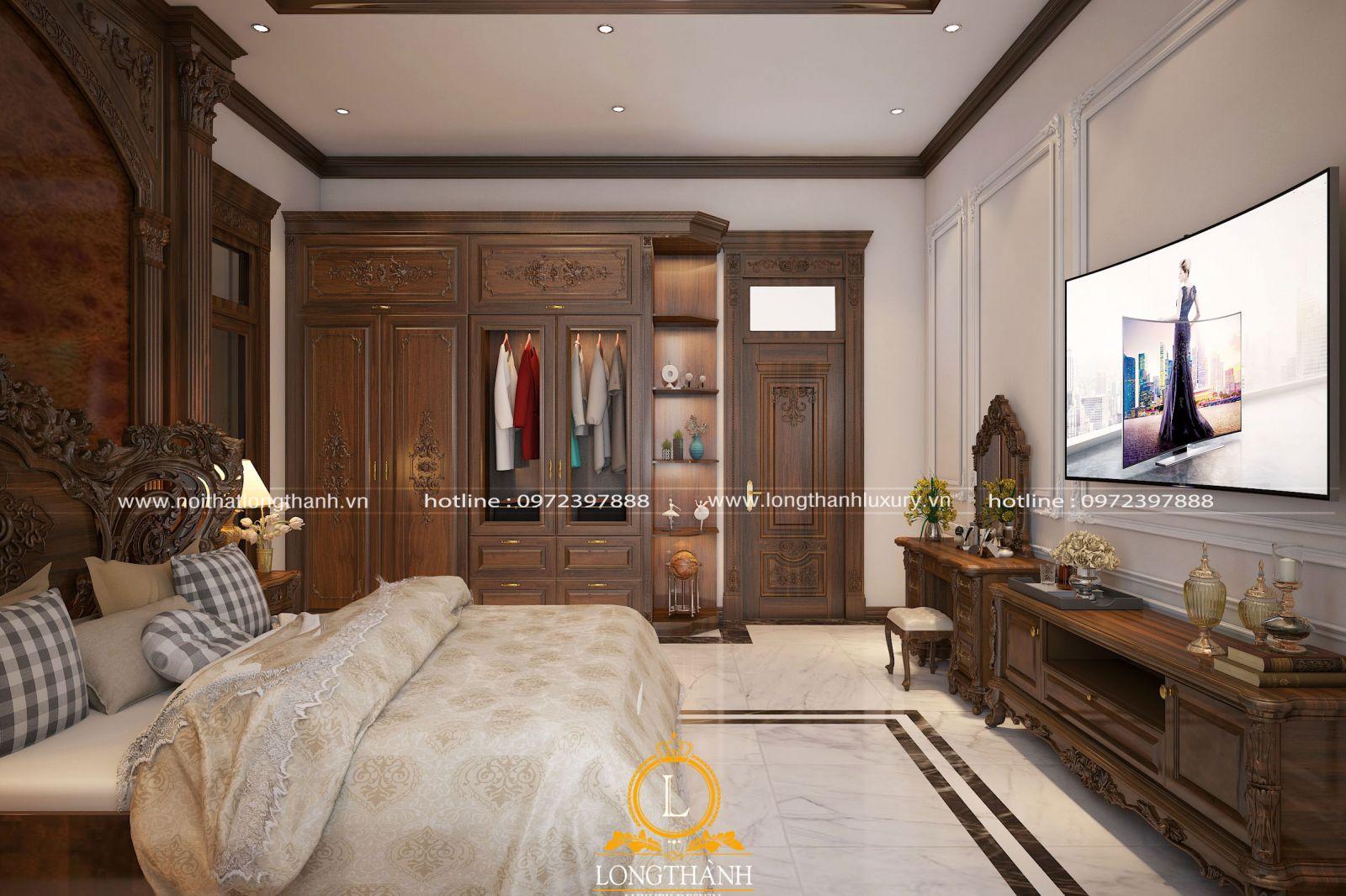 Tủ quần áo gỗ tự nhiên chất lượng