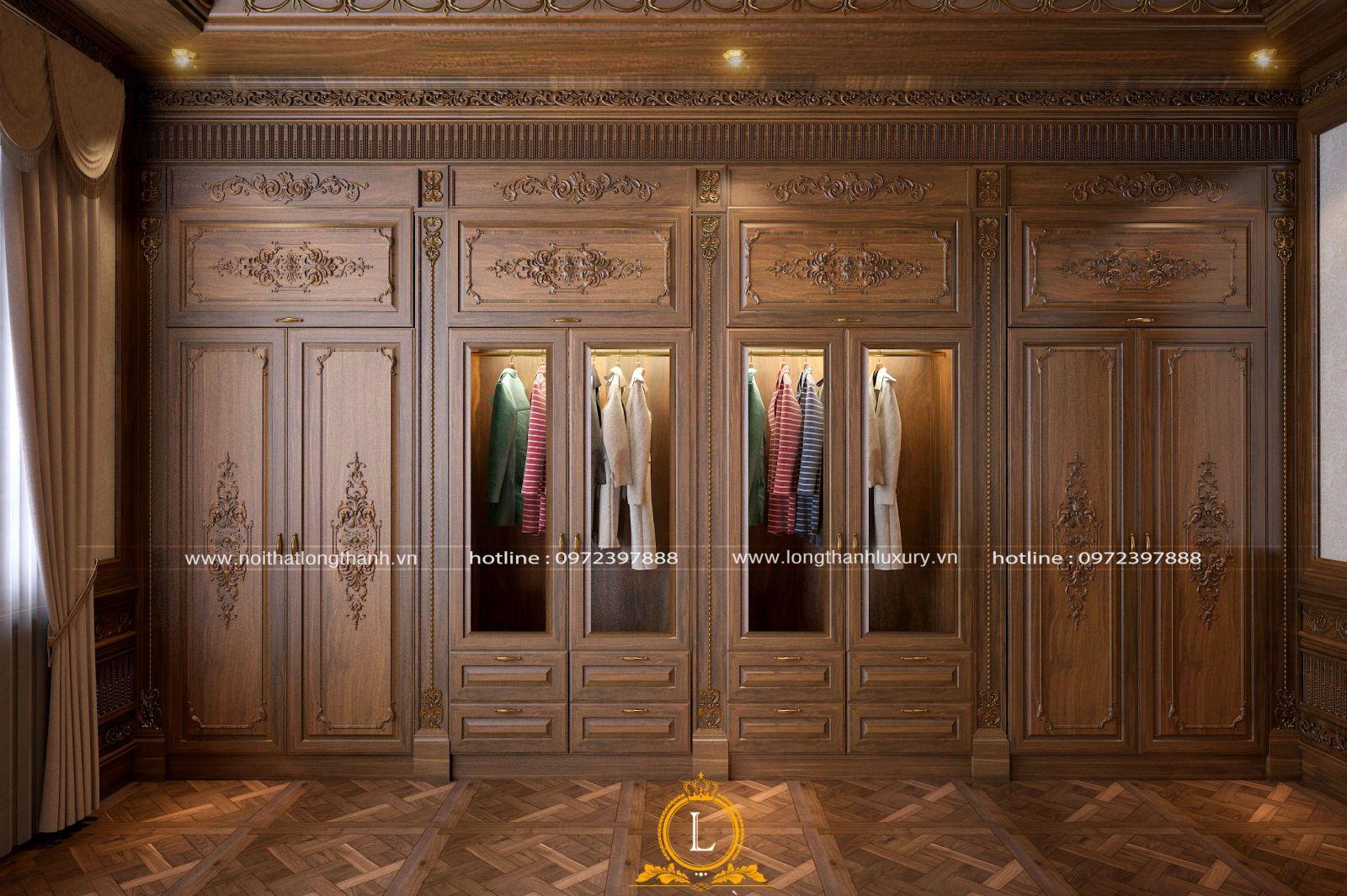 Tủ quần áo tân cổ điển đẹp sang trọng