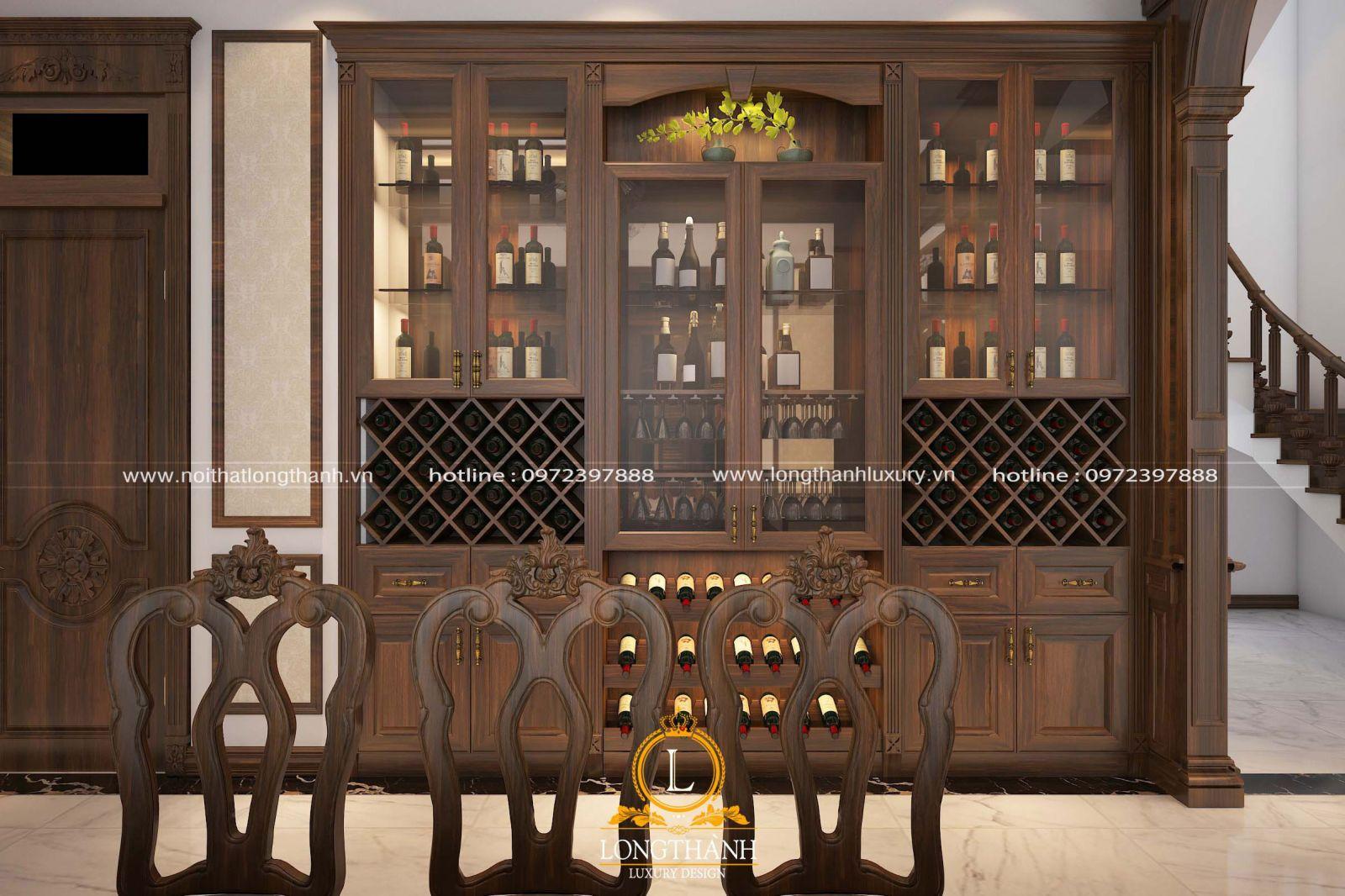 Tủ rượu đẹp sang trọng và tinh tế