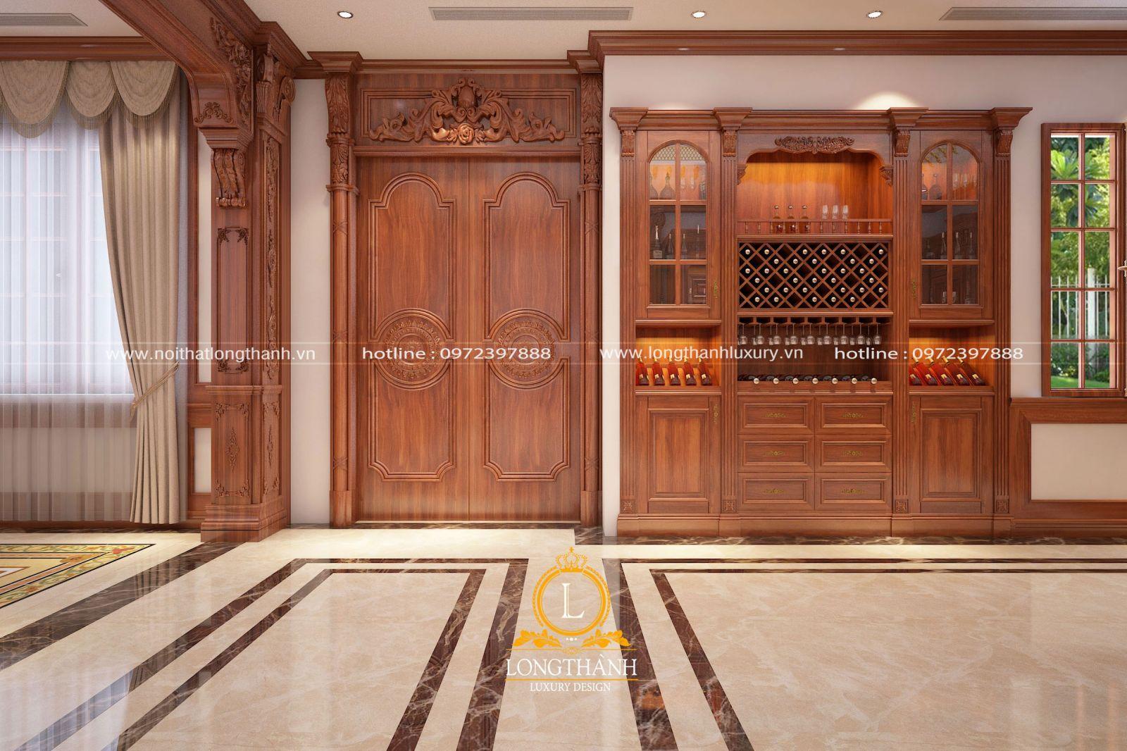 Tủ rượu trưng bày làm đẹp không gian