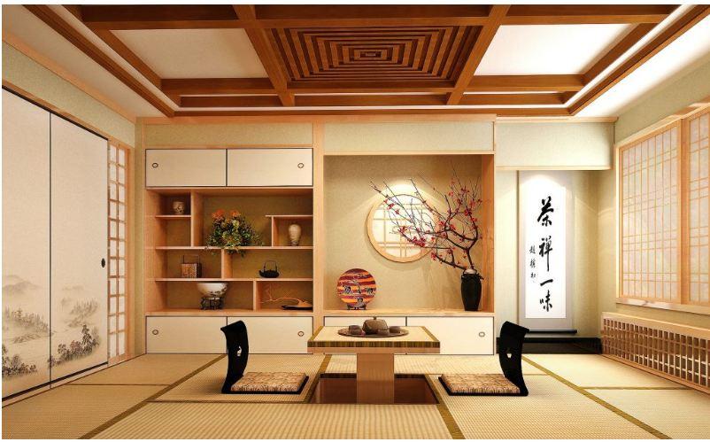 Thiết kế nội thất Zen thiền với màu sắc nhẹ nhàng tự nhiên