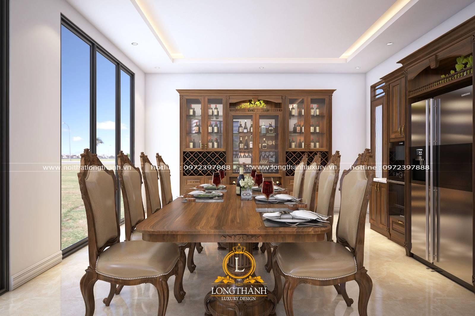 Mẫu bàn ghế ăn chất liệu gỗ Sồi cao cấp