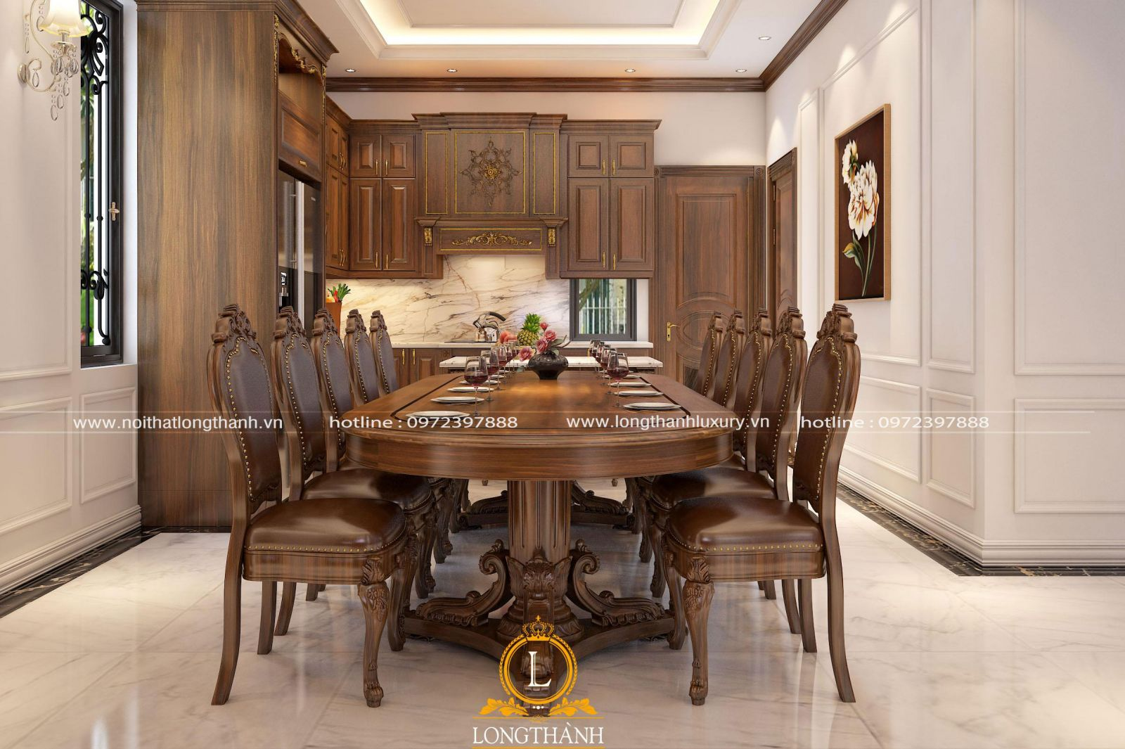 Bàn ghế ăn gỗ tự nhiên cao cấp với đa dạng kiểu dáng và kích thước