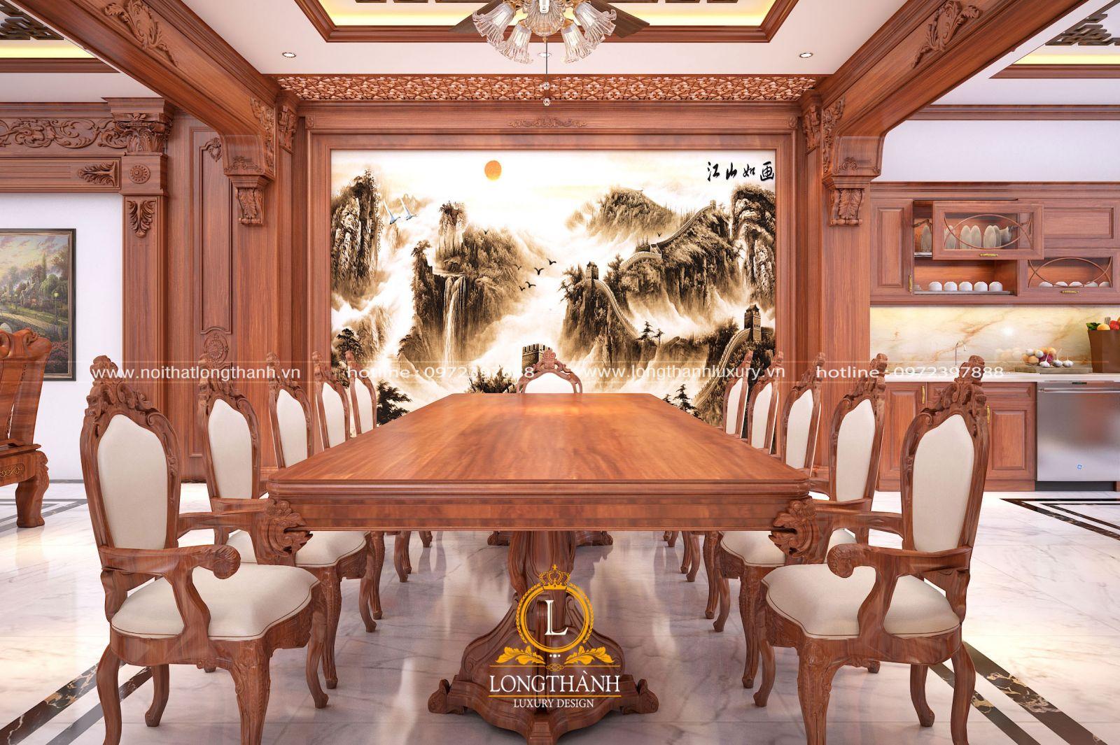 Bàn ghế ăn tân cổ điển cao cấp