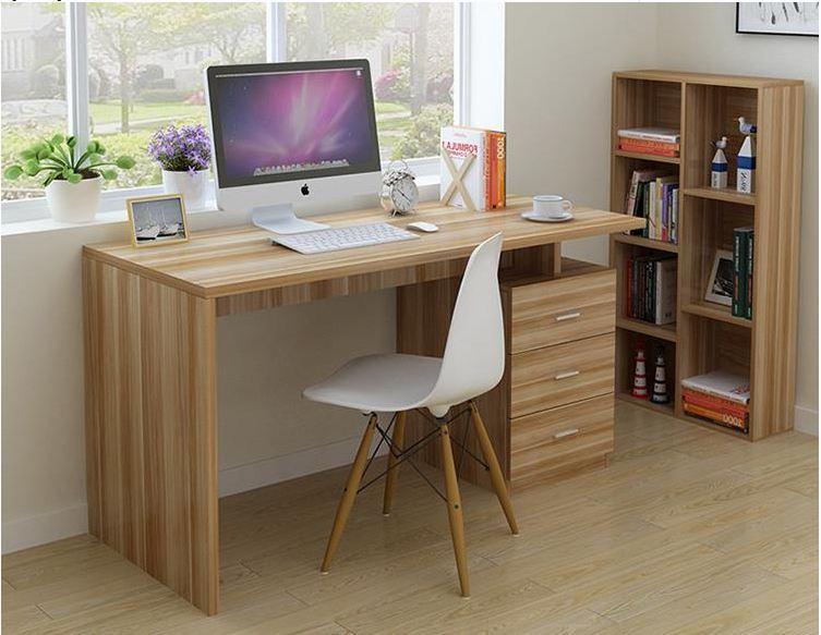 Mẫu bàn làm việc hình chữ nhật truyền thống đơn giản mà tiện lợi