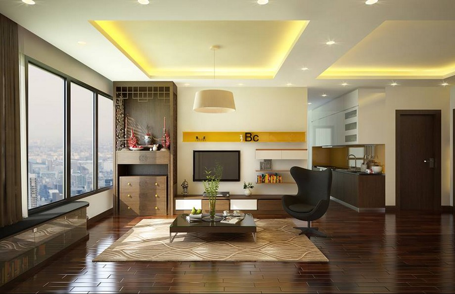 Phòng thờ thiết kế hiện đại chung cư cao cấp