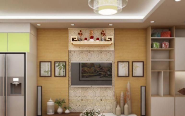 Bàn thờ treo tường cho chung cư được làm từ nhiều chất liệu với màu sắc đa dạng