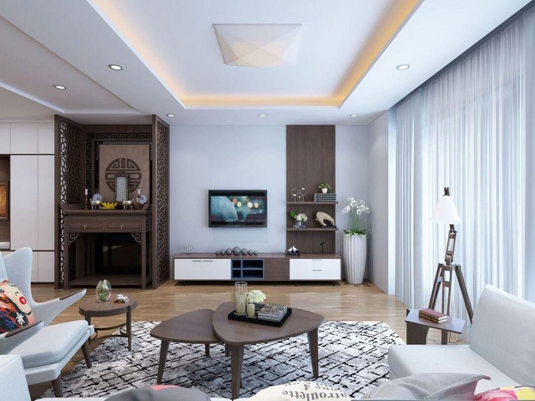 Bàn thờ phong cách hiện đại, nhỏ gọn trong chung cư