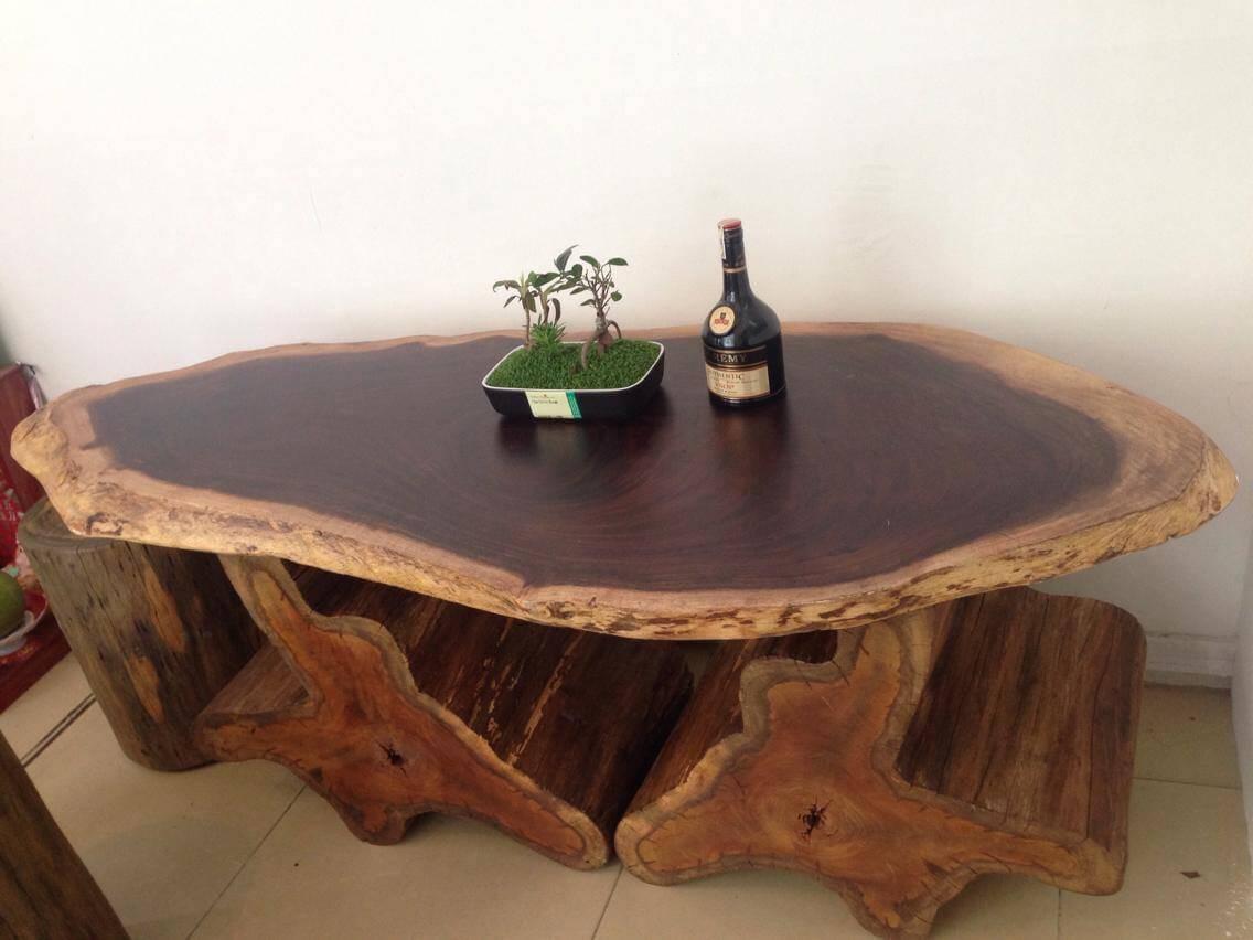 Thiết kế bàn trà Nhật làm gỗ tự nhiên nguyên khối