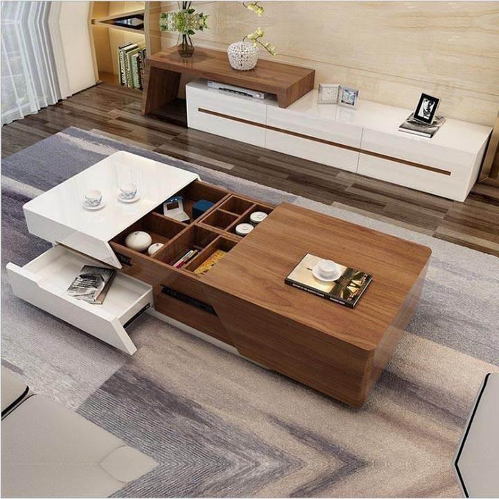 Thiết kế bàn trà theo kiểu ngồi bệt mang phong cách Nhật Bản