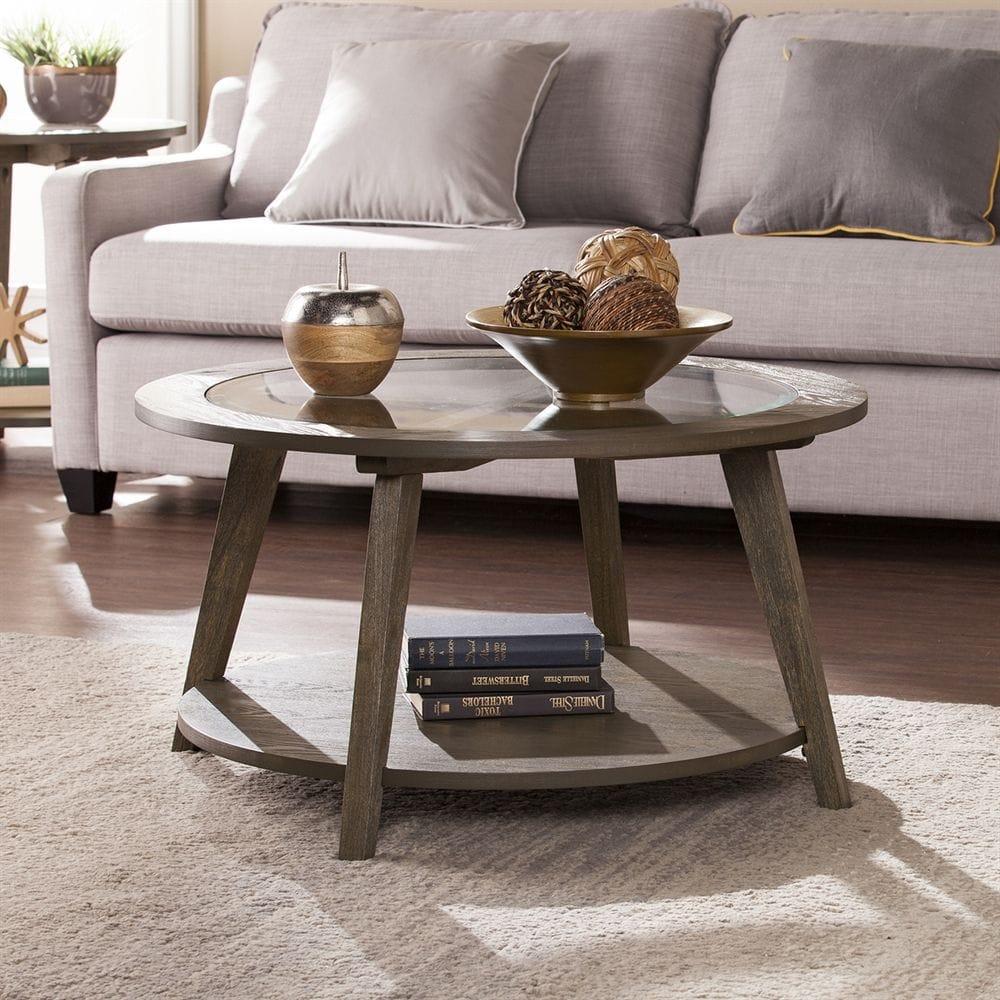 Thiết kế bàn trà Nhật dạng hình tròn hiện đại nhỏ gọn cho phòng khách chung cư