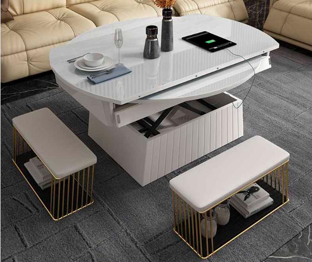 Thiết kế bàn trà Nhật có thể tăng giảm chiều cao tùy thích