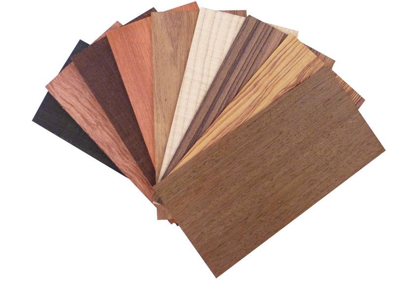 Bảng màu tone nâu đậm gỗ veneer