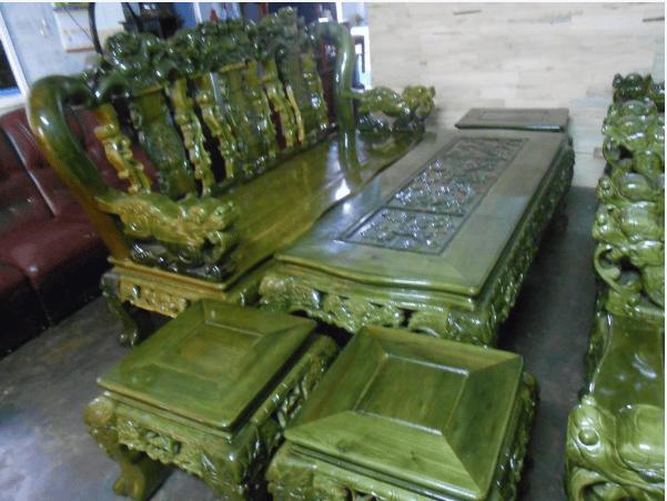 Bộ bàn ghế gỗ đổi màu