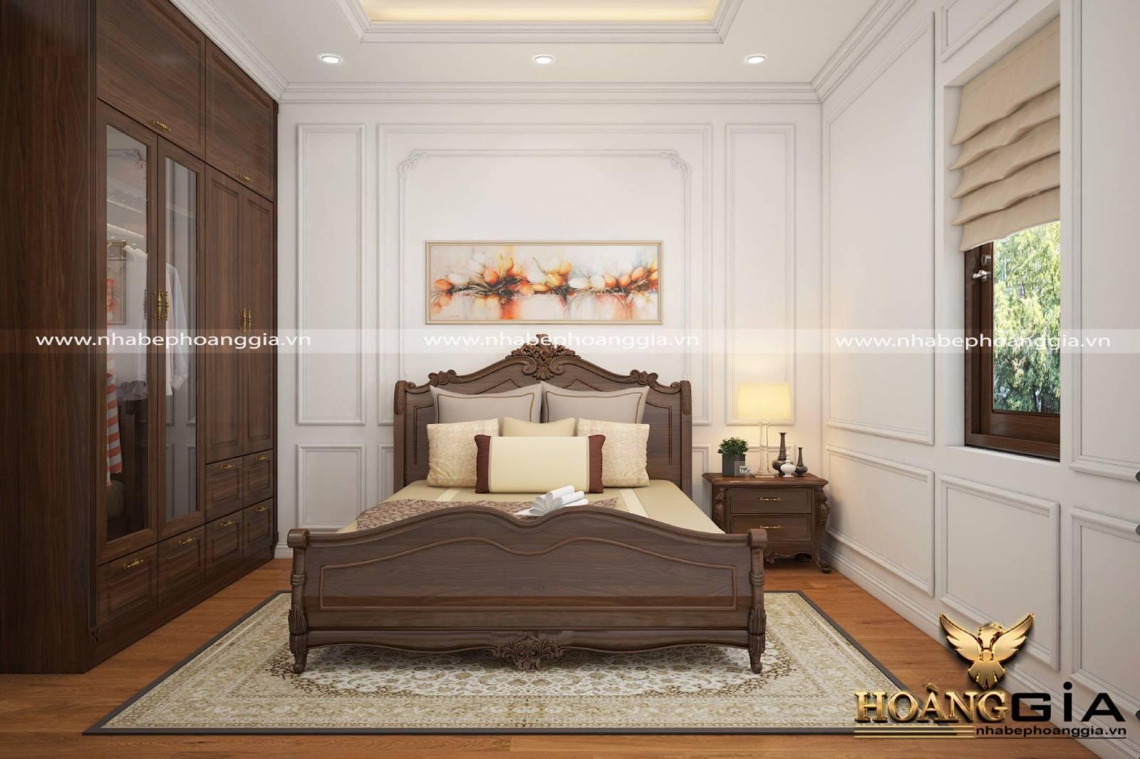 Bộ giường tủ tân cổ điển là món đồ chủ đạo trong nội thất phòng ngủ