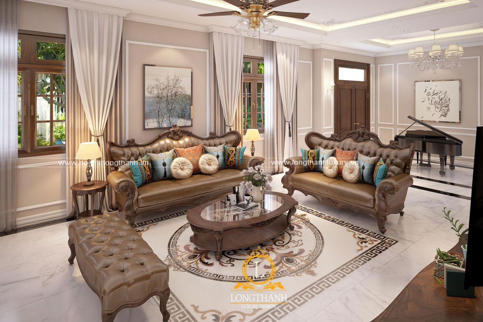 Màu sắc sofa phải hài hòa với toàn bộ không gian