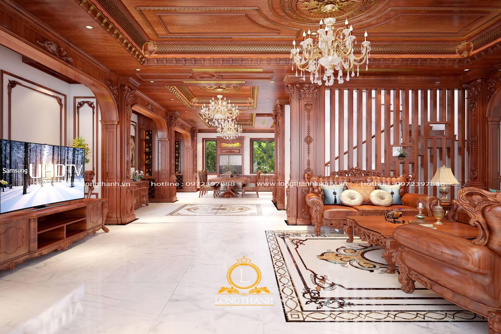 Gam màu vàng cũng được lựa chọn sử dụng trong nội thất nhà ống