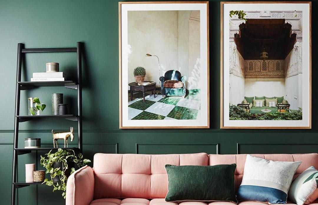 Bức tranh lưu giữ giá trị tôn lên vẻ đẹp nội thất retro hoài niệm