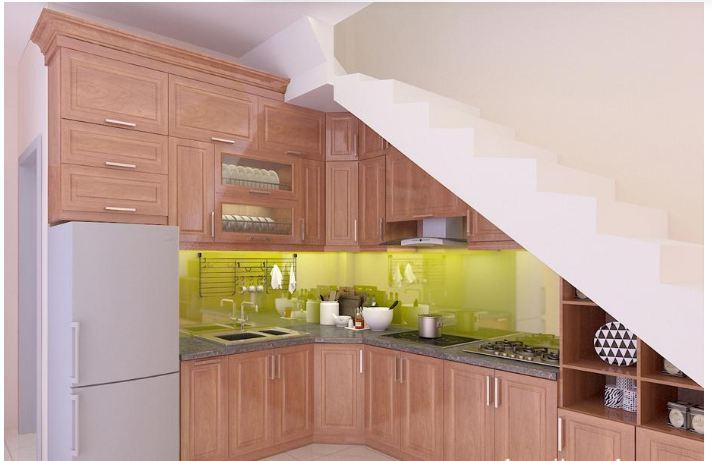 Tìm hiểu về các mẫu tủ bếp thiết kế bên dưới gầm cầu thang