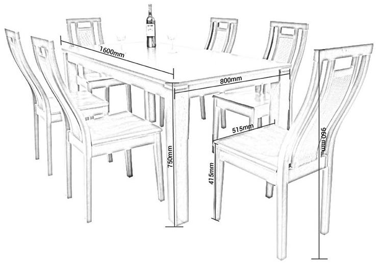 Kích thước bàn ăn chuẩn