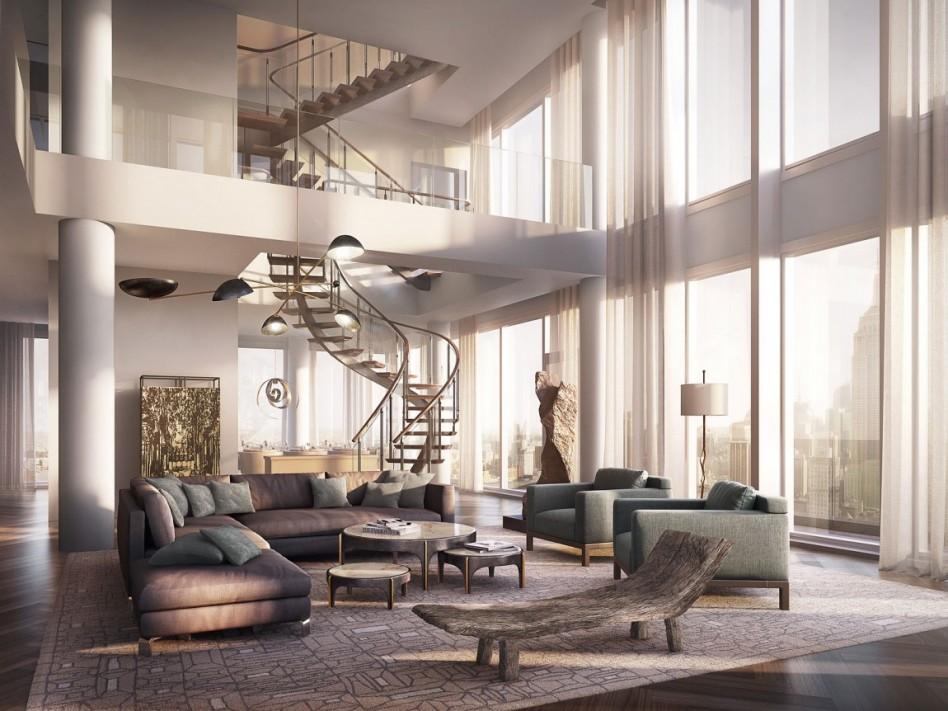 Căn hộ penthouse thiết kế theo kiểu hiện đại đơn giản