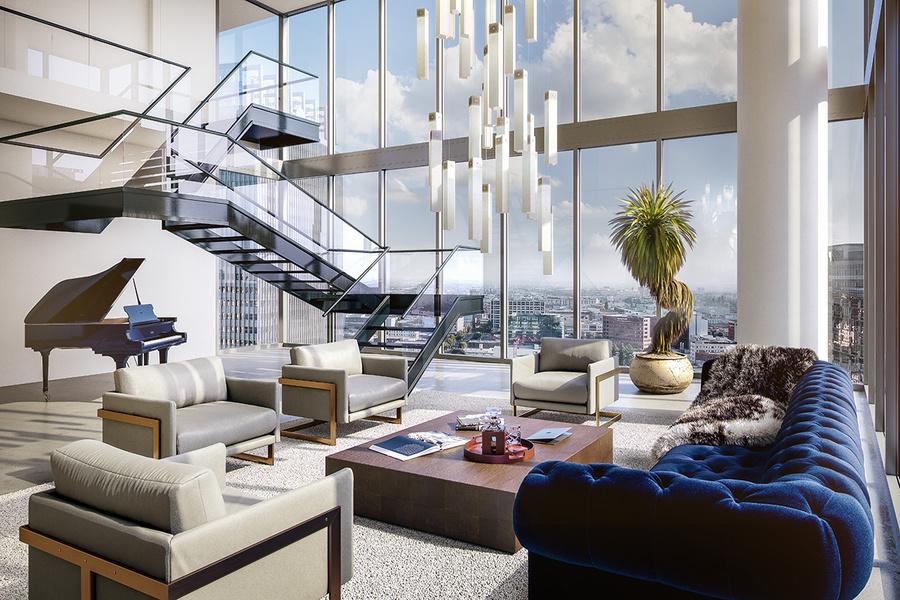 Thiết kế nội thất căn hộ penthouse theo phong cách hiện đại