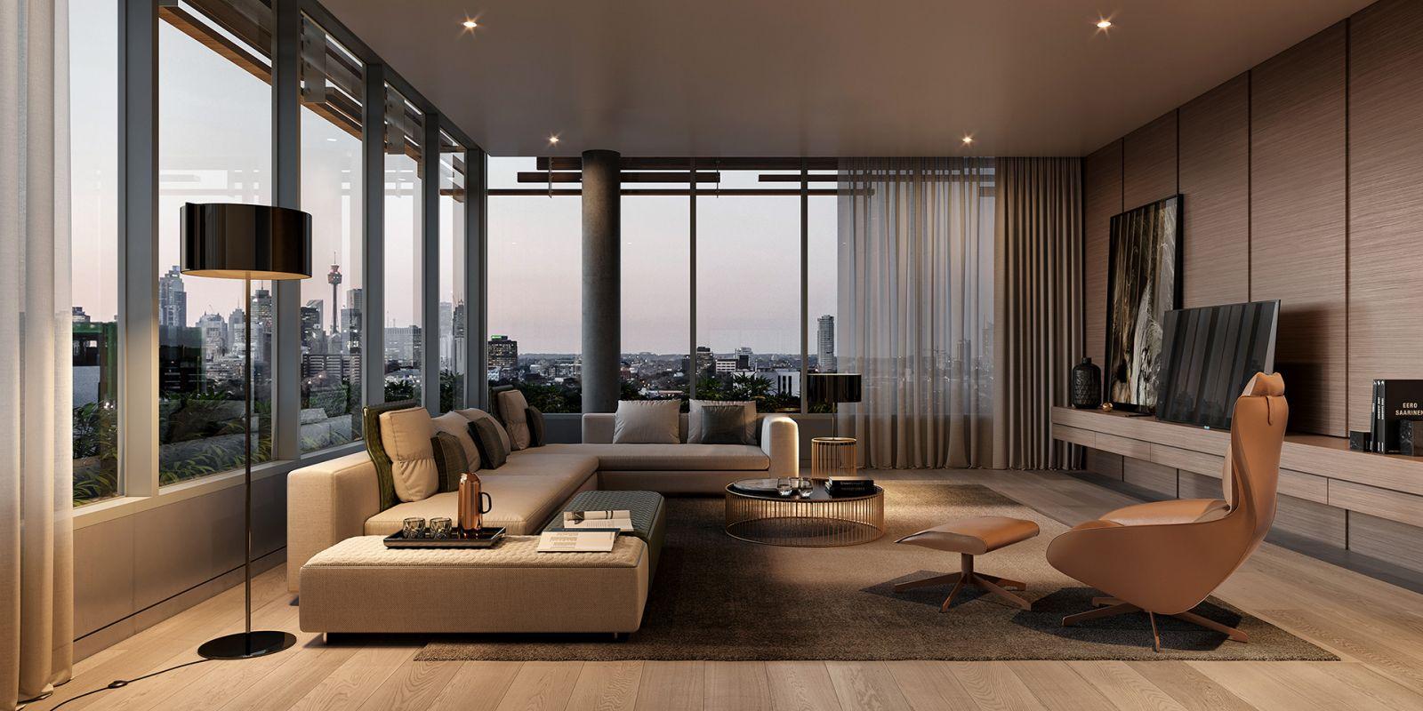 Thiết kế căn hộ penthouse mang phong cách Châu Âu sang trọng đẳng cấp